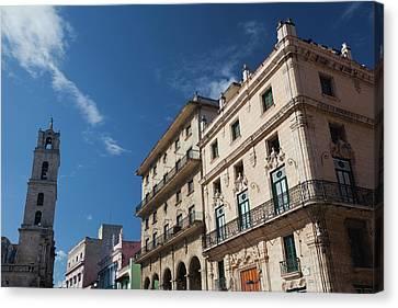 Cuba, Havana, Havana Vieja, Plaza De Canvas Print by Walter Bibikow