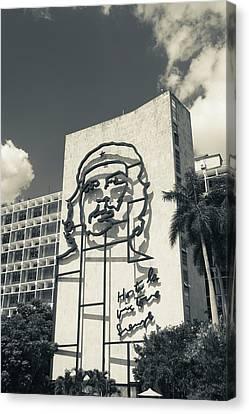 Cuba, Havana, Vedado, Plaza De La Canvas Print
