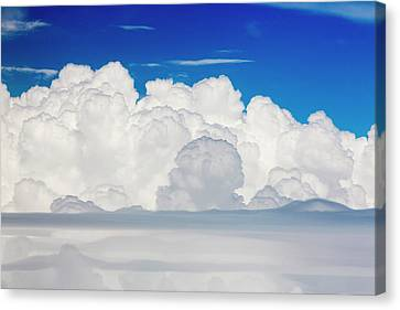 Cumulonimbus Cloud Seen From An Airplane Canvas Print by Ashley Cooper