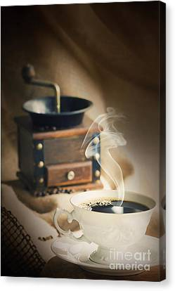 Cup Of Coffee Canvas Print by Mythja  Photography
