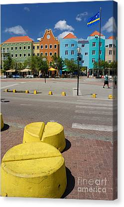Curacaos Colorful Architecture Canvas Print by Amy Cicconi
