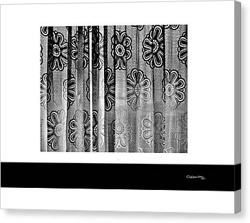 Curtained Window Canvas Print by Xoanxo Cespon