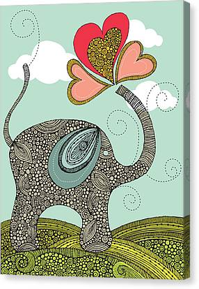 Cute Elephant Canvas Print by Valentina Ramos