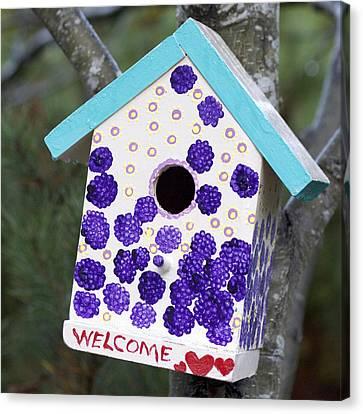 Cute Little Birdhouse Canvas Print by Carol Leigh