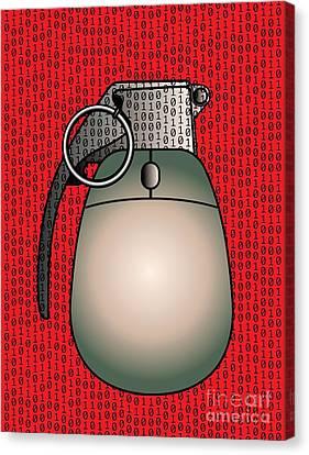 Cyber Warfare, Conceptual Artwork Canvas Print by Stephen Wood