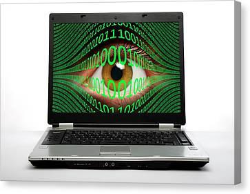 Cyberspying Canvas Print by Victor De Schwanberg