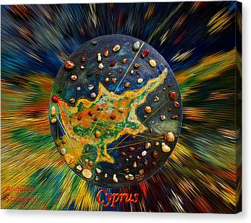 Microcosm Canvas Print - Cyprus Stars by Augusta Stylianou