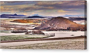 Czech Middle Mountains  Canvas Print