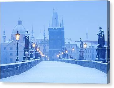 Czech Republic, Prague - Charles Bridge Canvas Print by Panoramic Images