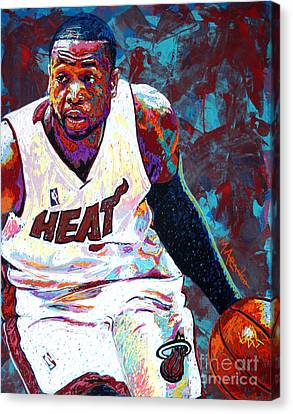D. Wade Canvas Print by Maria Arango