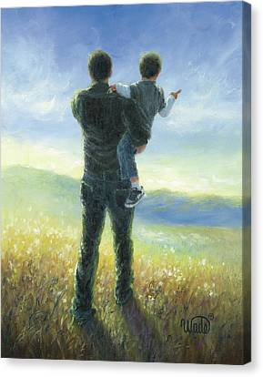 Dad And Me Canvas Print