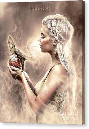 Daenerys Canvas Print by Judas Art