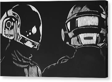 Daft Punk Canvas Print - Daft Punk by Trevor Garner