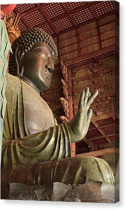 Daimonji Temple In Nara, Japan Is Home Canvas Print by Paul Dymond
