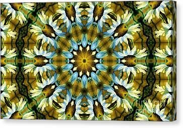 Kaleidoscope Daisy Mae Canvas Print