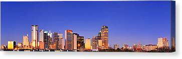 Dallas At Dawn Canvas Print by David Perry Lawrence