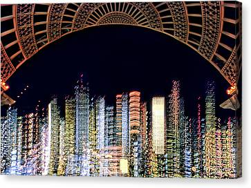 Dallas At Night Canvas Print by David Perry Lawrence
