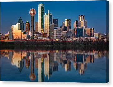 Canvas Print featuring the photograph Dallas Skyline by Mihai Andritoiu