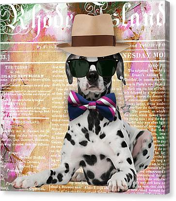 Dalmatian Bowtie Collection Canvas Print