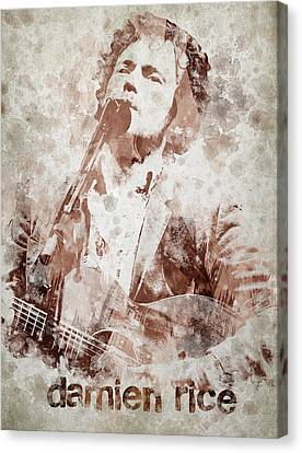 Piano Canvas Print - Damien Rice Portrait by Aged Pixel