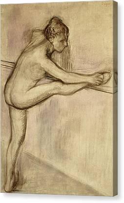 Dancer At The Bar Canvas Print by Edgar Degas