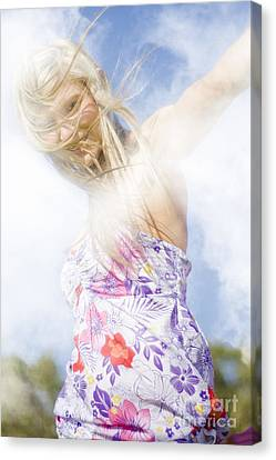 Dancing Dream Girl Canvas Print by Jorgo Photography - Wall Art Gallery