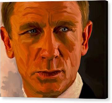 Daniel Craig 007 Canvas Print by Brian Reaves