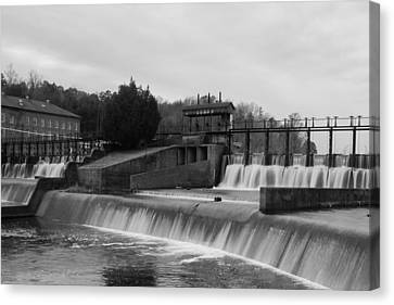 Daniel Pratt Cotton Mill Dam Prattville Alabama Canvas Print by Charles Beeler