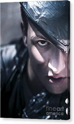 Dark Evil Man Canvas Print by Jorgo Photography - Wall Art Gallery