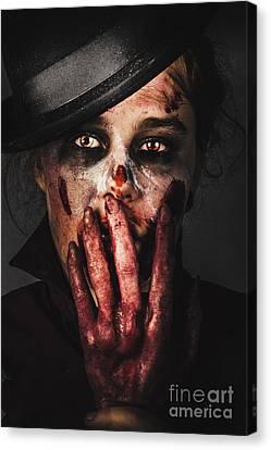 Dark Face Of Fear. Fright Night Canvas Print