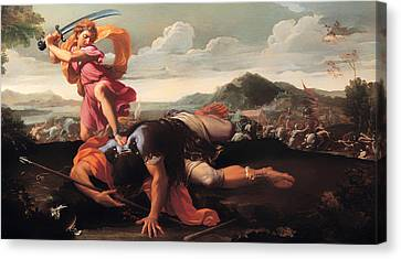 David And Goliath Canvas Print - David And Goliath by Mountain Dreams