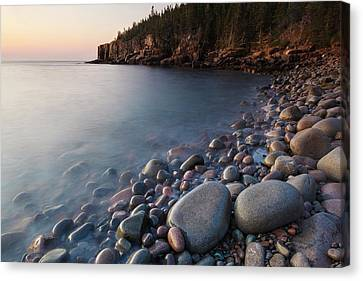 Dawn In Monument Cove In Maine's Acadia Canvas Print by Jerry and Marcy Monkman