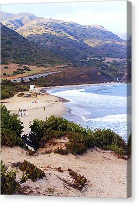 Day At The Beach Canvas Print by Ron Regalado