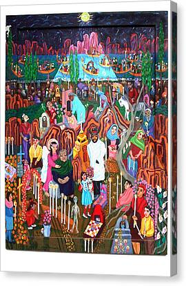 Days Of The Dead Canvas Print by Maria Alquilar