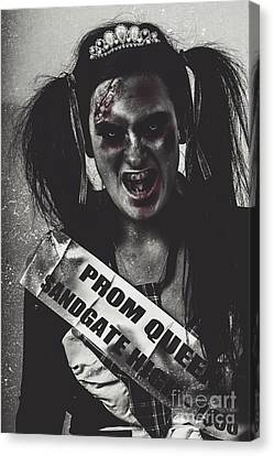 Dead Prom Queen At High School Reunion  Canvas Print by Jorgo Photography - Wall Art Gallery