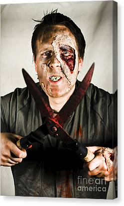 Death By Zombie Canvas Print by Jorgo Photography - Wall Art Gallery