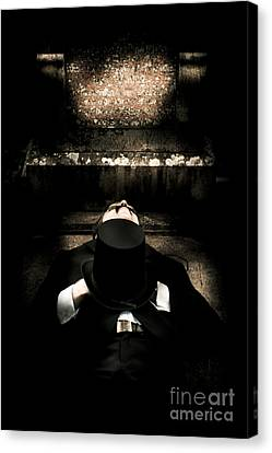 Deceased Man In Repose Canvas Print by Jorgo Photography - Wall Art Gallery