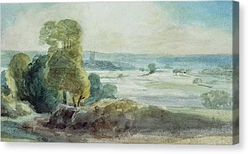 Dedham Vale Canvas Print by John Constable