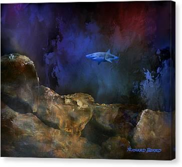 Deep Water Shark Canvas Print