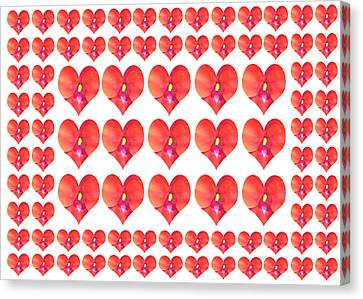 Deeply In Love Cherryhill Flower Petal Based Sweet Heart Pattern Colormania Graphics Canvas Print by Navin Joshi