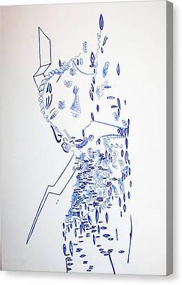 Deity - Nhialic - South Sudan Canvas Print by Gloria Ssali
