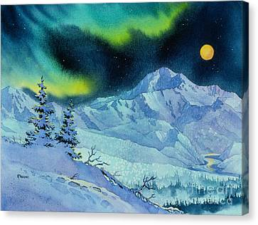 Denali Night Canvas Print by Teresa Ascone