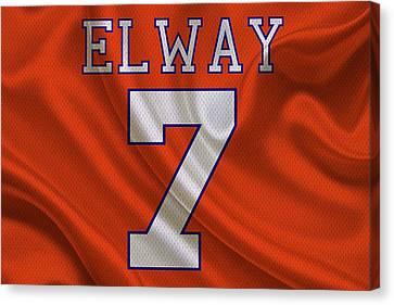Denver Broncos John Elway Canvas Print by Joe Hamilton