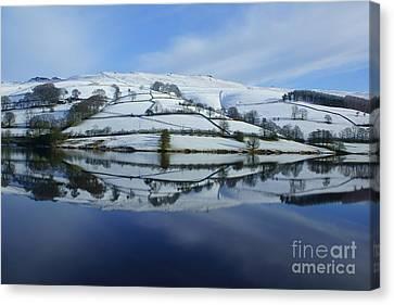 Derwent Valley Reflections Canvas Print by David Birchall