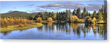 Deschutes River Canvas Print by Twenty Two North Photography