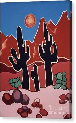 Desert Heat Canvas Print by Joyce Gebauer