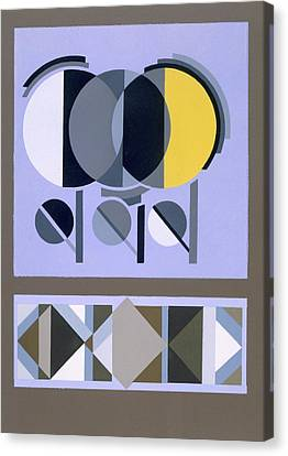 Designs From Relais, C.1920s-1930 Canvas Print by Edouard Benedictus