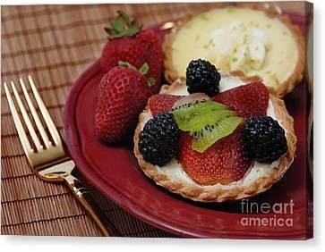 Dessert Tarts Canvas Print by Amy Cicconi