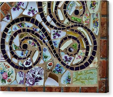 Detail Mosaics Canvas Print by Charles Lucas