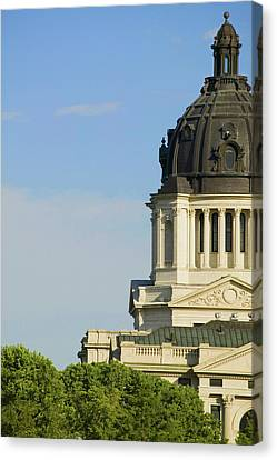 Detail Of Dome Of South Dakota State Canvas Print